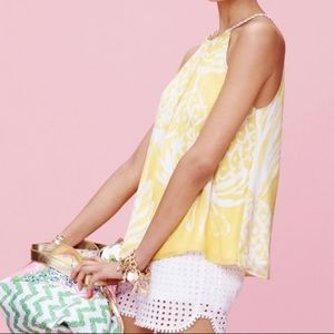 Lilly Pulitzer Yellow Pineapple Punch Tank Top XS
